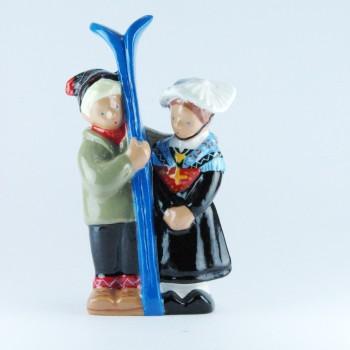 Savoie (Couple ski bleu)