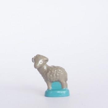 Mouton gris (tête tournée)
